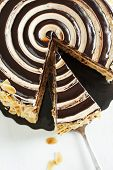 foto of crunch  - Delicious Almond Chocolate Crunch Cake - JPG