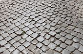stock photo of porphyry  - Very old roman stone pavement in the downtown of Rome  - JPG