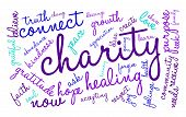 foto of word charity  - Charity word cloud on a white background - JPG