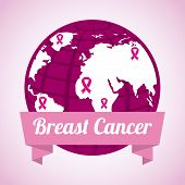 stock photo of world health organization  - Breast cancer design over white background - JPG