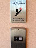 Elevator Hazard Sign