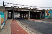 picture of underpass  - The Cass Street Underpass in Joliet, Illinois