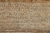 Latin Text On Ancient Wall