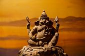 stock photo of ganesh  - Ganesh  is a beautifully carved from wood - JPG