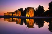 foto of isis  - Sunset over the Templo de debod in Madrid - JPG