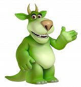 picture of halloween characters  - Cute halloween green cartoon freak  toy 3 d - JPG