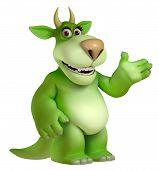 image of halloween characters  - Cute halloween green cartoon freak  toy 3 d - JPG