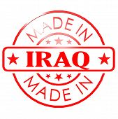 foto of iraq  - Made in Iraq red seal image with hi - JPG