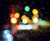 pic of raindrops  - Raindrops on windshield car - JPG