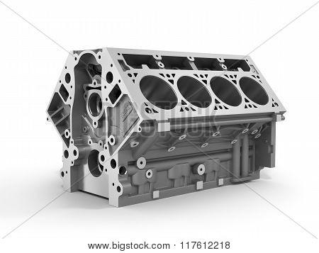 3D Render Of Cylinder Block