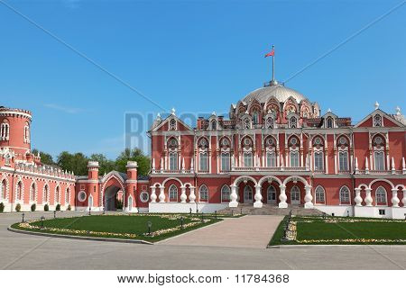 poster of Petrovsky Travelling Palace, Neoghotic Red Bricked Architecture With Ogival Windows