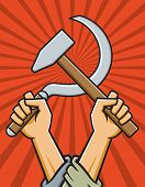 Hammer and Sickle Vector Illustration poster