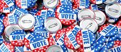 Vote Election Badge Button For 2016 Background 3D Illustrations poster