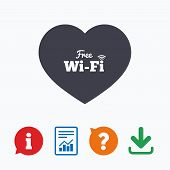 Постер, плакат: Love Free wifi sign Wifi symbol