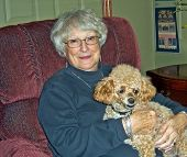 Woman And Poodle
