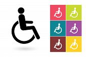 Постер, плакат: Disabled vector icon or disabled handicap symbol