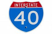 Interstate I-40 sign
