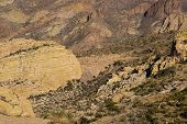 foto of snowbird  - car on a canyon road in tonto national forest - JPG