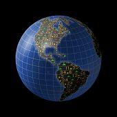 Volkswirtschaften der Welt als Börse
