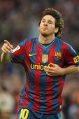 Leo Messi of Barcelona