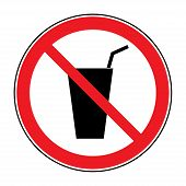 Постер, плакат: No Drink Sign