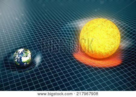 3D illustration Earths