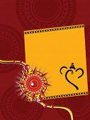 artistic design background with rakshabandhan greeting card