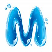 ABC series - Water Liquid Letter - Capital M