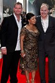 NEW YORK, NY - JULY 11: Director David Yates (R) and Yvonne Walcott attend the  premiere of 'Harry P