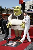 LOS ANGELES - MAY 20: Shrek; Antonio Banderas; Mike Myers at a ceremony where Shrek receives a star