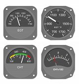 Aircraft gauges set