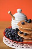 Scotch Pancakes & Blueberries