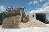 Excavator Unload Gravel