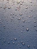 pic of car wash  - Drops of water on a surface of the car after a rain - JPG