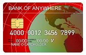 Cartão de crédito globo vermelho