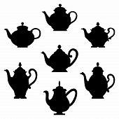 Set of teapots