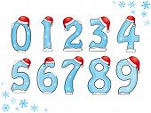 Set of Christmas numbers