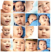 stock photo of newborn baby  - new born baby composition - JPG
