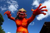 Balinese monster Ogoh-Ogoh on blue sky background