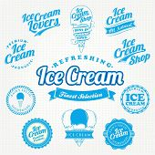 image of milk-pint  - Retro Ice Cream Label And Vintage Set - JPG
