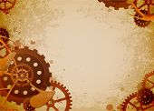 stock photo of steampunk  - Vector grunge background in the style of steampunk - JPG