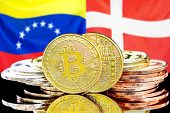 Concept For Investors In Cryptocurrency And Blockchain Technology In The Venezuela And Denmark. Bitc poster