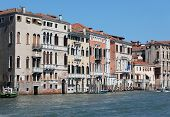 View Of Palaces And Houses In Venice Italy And The Major Waterway Called Grand Canal Or Canal Grande poster