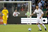 LOS ANGELES - JULY 16: Real Madrid C.F. M Xabi Alonso #14 in action during the World Football Challe