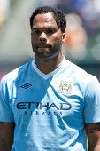 CARSON, CA. - July 24: Manchester City FC defender Joleon Lescott #19 before the World Football Challenge game on July 24 2011 at the Home Depot Center, in Carson, Ca.