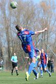 KAPOSVAR, HUNGARY - MARCH 17: Adam Menyhert (17) in action at the Hungarian National Championship un