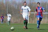 KAPOSVAR, HUNGARY - MARCH 17: Daniel Vaszilko (white) in action at the Hungarian National Championsh