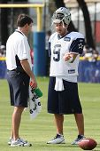 OXNARD, CA. - AUG 15: Dallas Cowboys QB (#9) Tony Romo during the second day of the 2010 Dallas Cowb