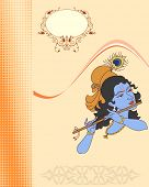 image of lord krishna  - Krishna playing flute - JPG