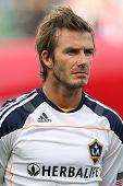 CARSON, CA. - OCT 3: Los Angeles Galaxy M David Beckham #23 before the Chivas USA vs Los Angeles Gal